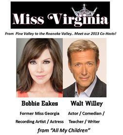 Miss VA  co-hosts Walt Willey and Bobbie Eakes