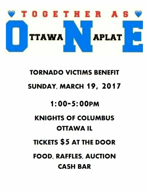 Tornado Victims Benefit flyer