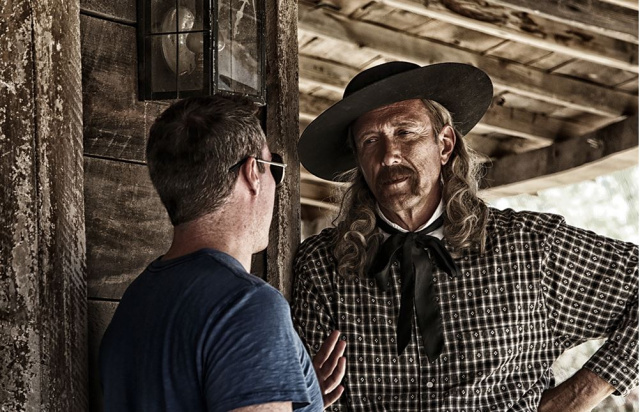 Walt Willey on the set of Gunslingers